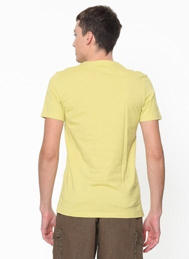 Jack & Jones Jack & Jones Baskılı Sarı T-Shırt Sarı